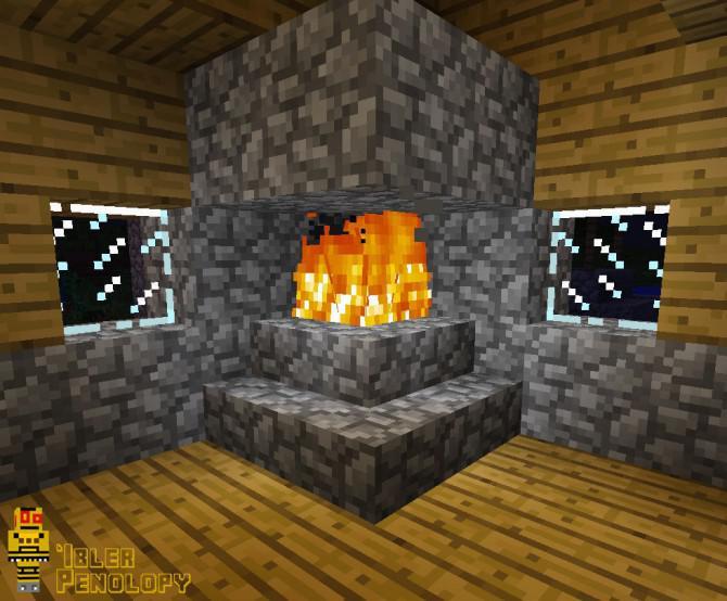 wie man einen kamin der nicht in minecraft brennen ihr haus nach unten machen. Black Bedroom Furniture Sets. Home Design Ideas