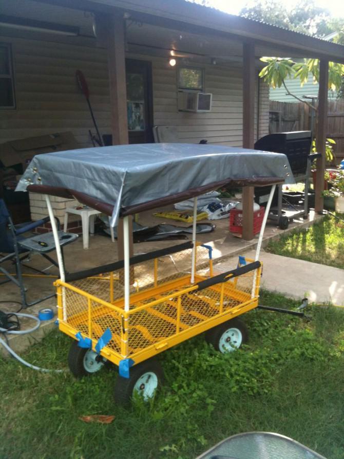 selbstfahrende kiddo chariot von alten garten wagen und elektromobil auf einen 100 bis 200. Black Bedroom Furniture Sets. Home Design Ideas