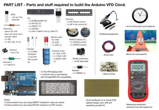 Arduino vfd display clock tutorial ein leitfaden für