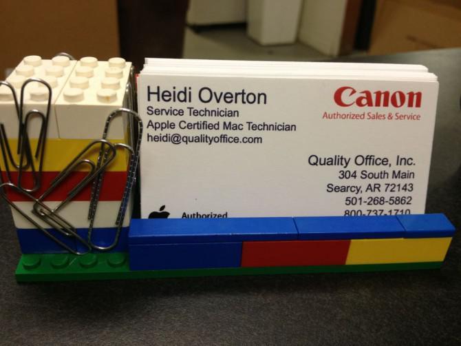 Lego Visitenkartenhalter Mit Magnetized Paperclip Halter