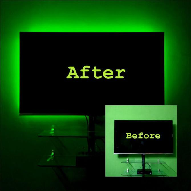 diy g nstige led tv hintergrundbeleuchtung ein laie die version. Black Bedroom Furniture Sets. Home Design Ideas