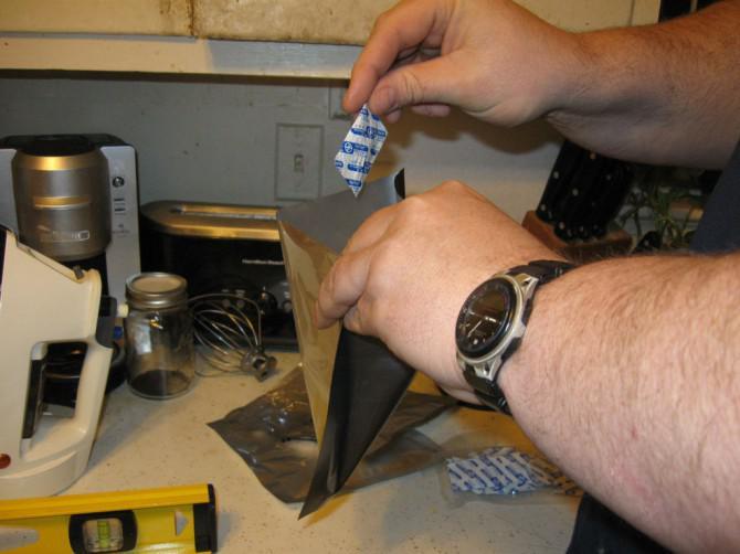 Vakuumieren dehydrierte Lebensmittel in mylar