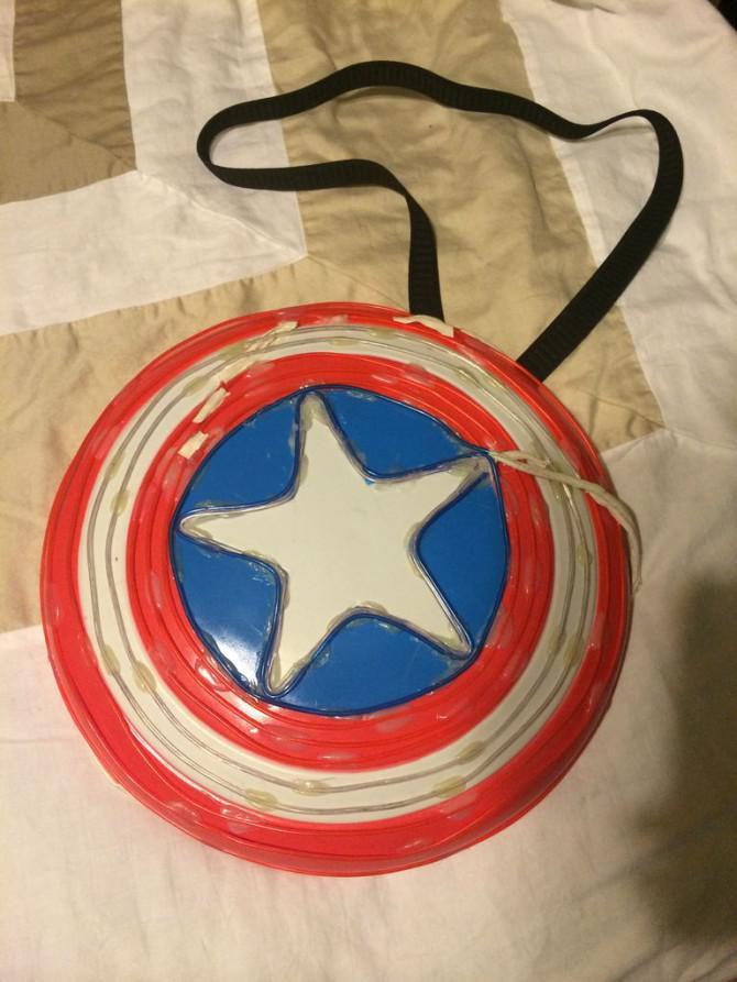 Frau Captain America Glow Kostüm