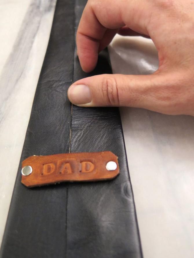 Leder Krawatten