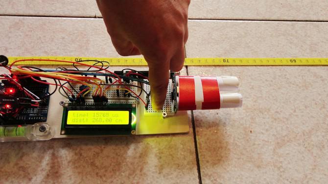 Laser Entfernungsmesser Ultraschall : Ultraschall entfernungsmesser mit lcd anzeige auf arduino uno