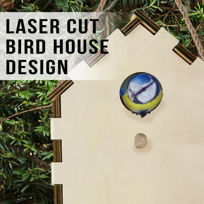 Laser Cut Birdhouse Design-