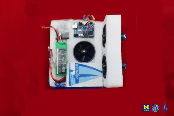 Wireless Kontrollierte Hovercraft (Wonder4)