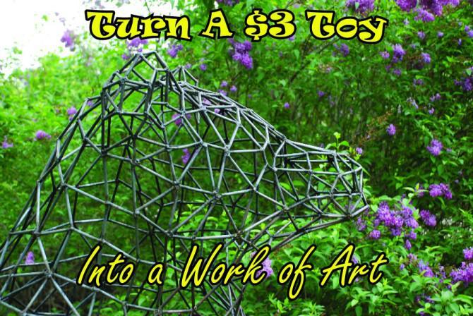 Schalten Sie ein $ 3 childs Spielzeug in ein Kunstwerk