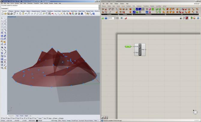 Miniprojektions-Mapped Landschaft