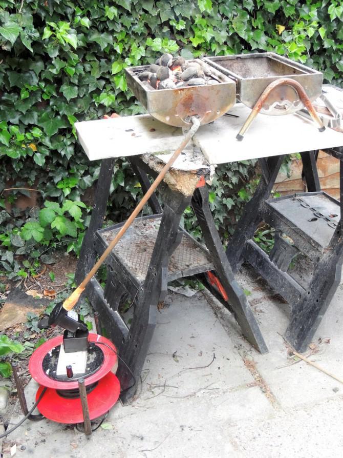 DIY Schmiedekunst - Konvertieren Sie Ihre Grill in einer Schmiede dann benutzen, um Schrott zu Werkzeugen recyceln