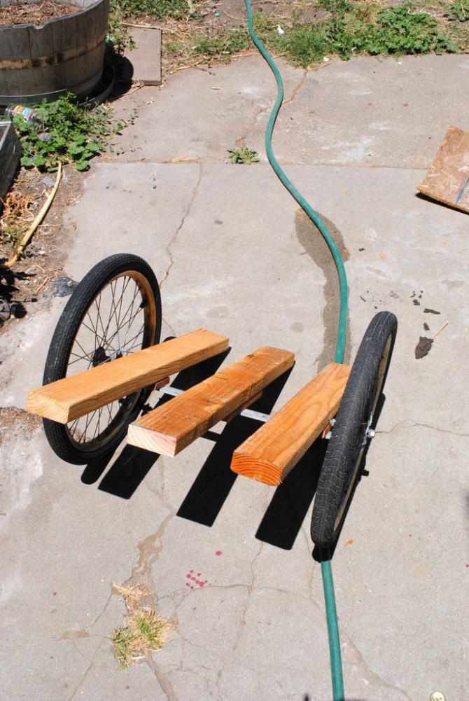 Kein Weld-Fahrrad-Anhänger