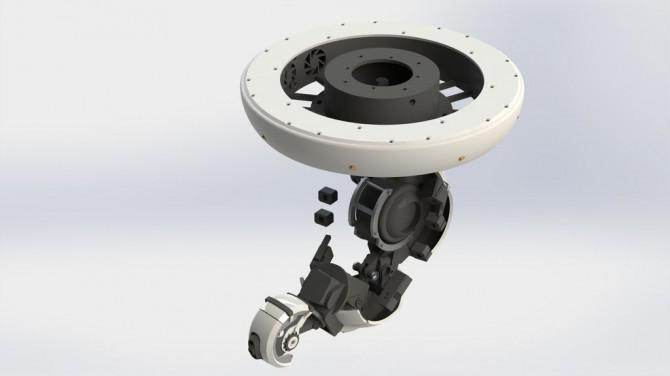 Eine voll 3D druckbare GlaDOS Robotic Arm Deckenleuchte