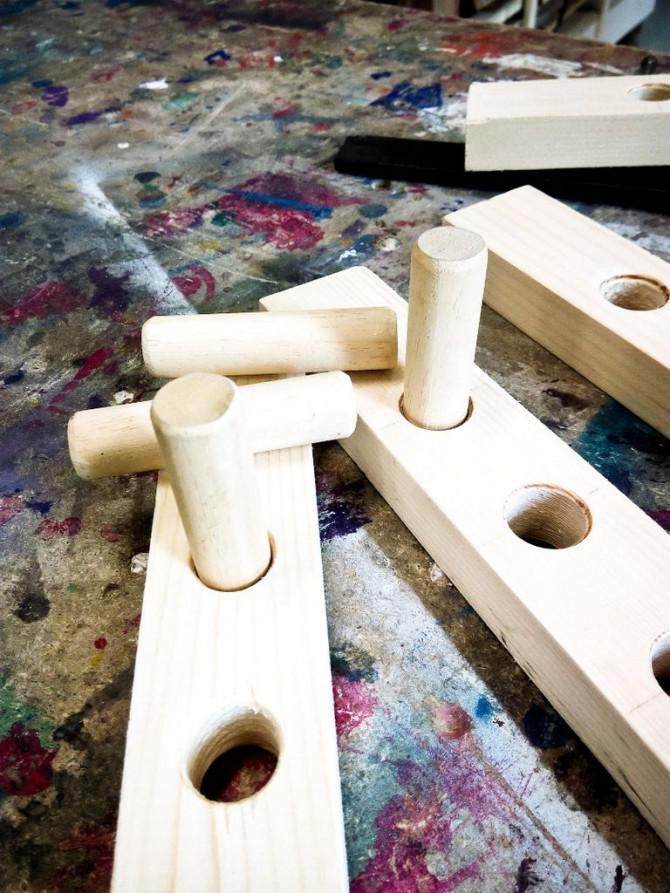 Verstellbare Holz Sägebock