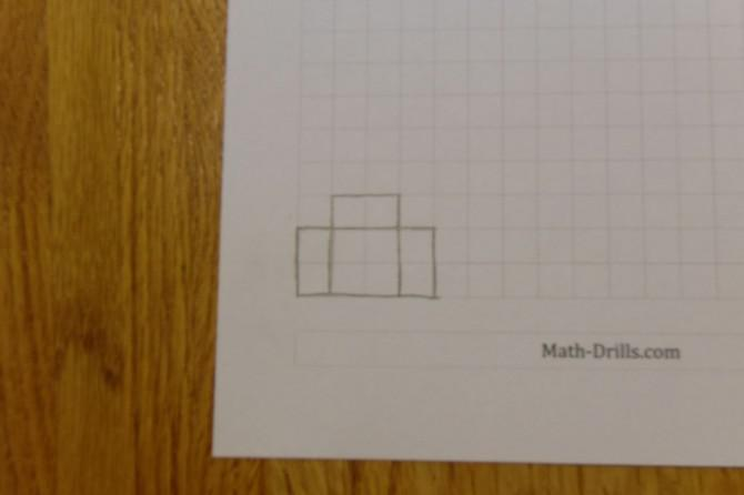 3D-Gebäude Papercraft Mit Grid-Papier !!
