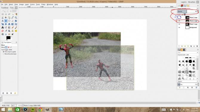Photoshopping Mehrere Objekte in ein Bild