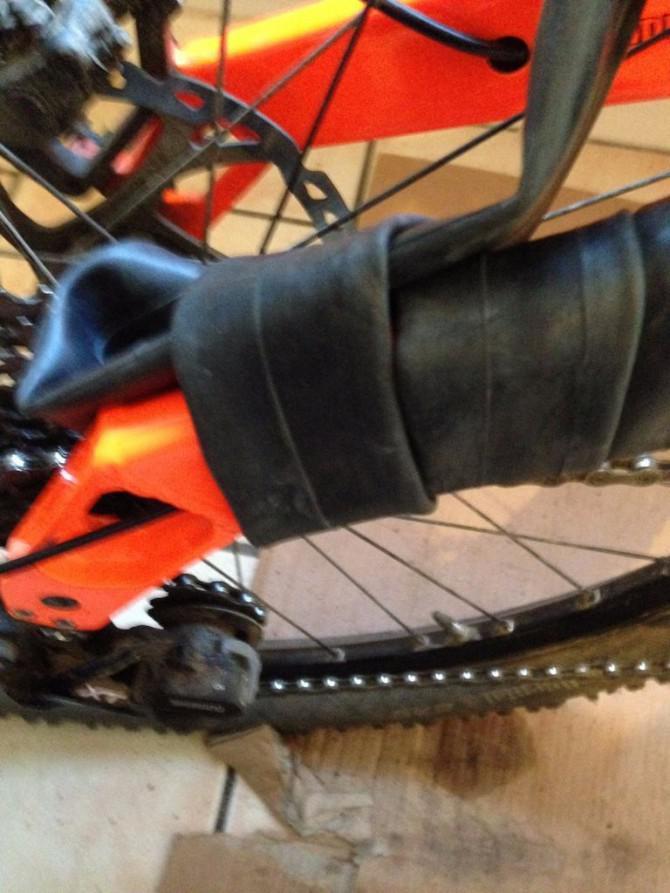 Fahrradrahmen Kette-Slap Schutz