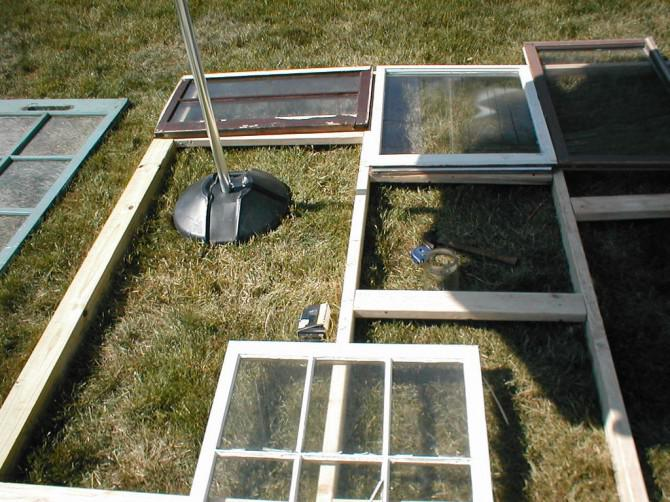 Greenhouse Von Old Windows-