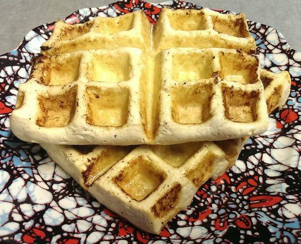 Langsam gekocht Tofu Teriyaki Waffle
