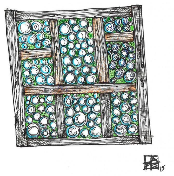 Glasglas Gewächshaus