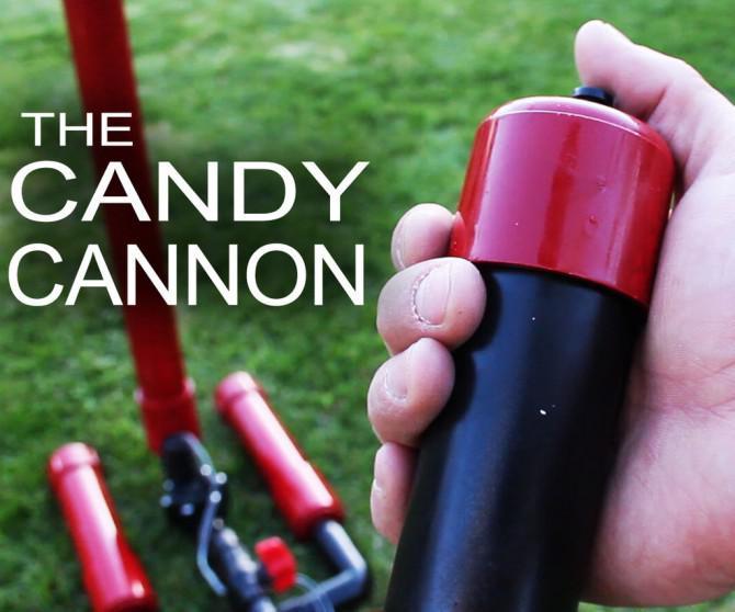 Lass es regnen unten Chocolate!  Wirklich!  Hier ist, wie Sie Ihre eigene Druckluft Süßigkeit Kanone machen!