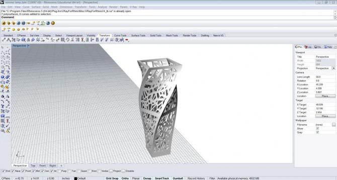 Wie man ein 3D Printed Voronoi Spiral-Mittelstück / Vase erstellen