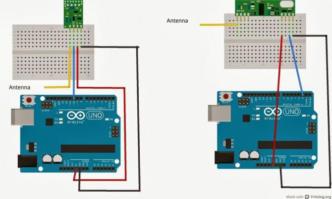 Arduino 433Mhz Wireless Communication Rc wechseln