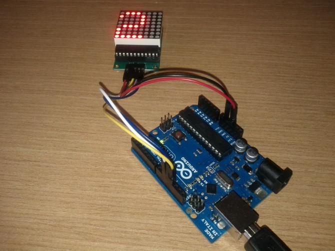 LED Matrix mit Arduino