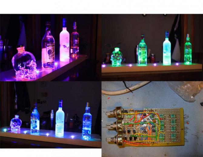 Arduino Powered RGB LED Vodka Shelf