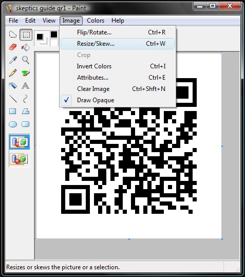 Barcode mit Logo (QR Code)