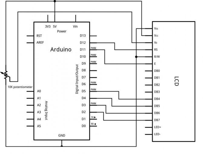 home security alarm oder ein bewegungsmelder mit arduino pir sensor und lcd. Black Bedroom Furniture Sets. Home Design Ideas