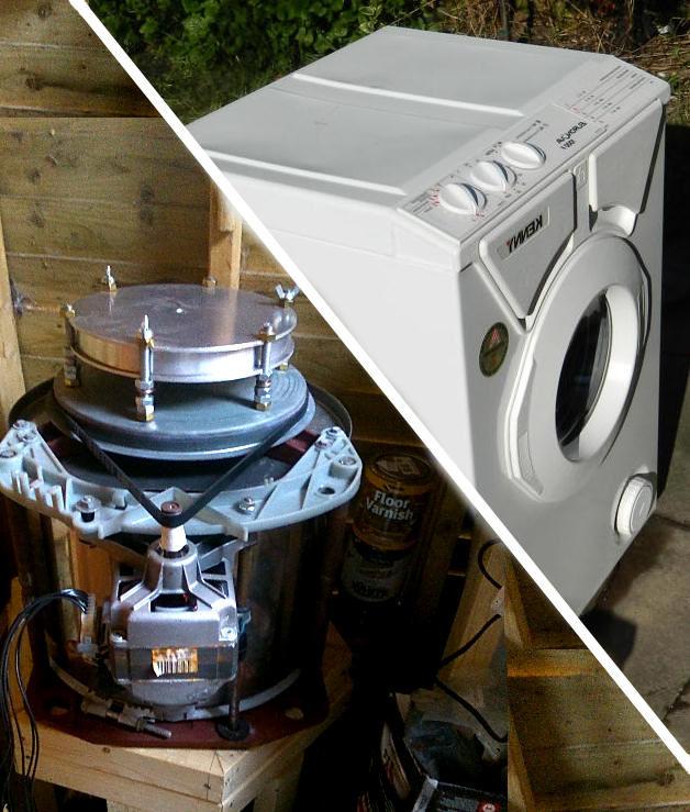 Schleudermaschine Von Einer Waschmaschine