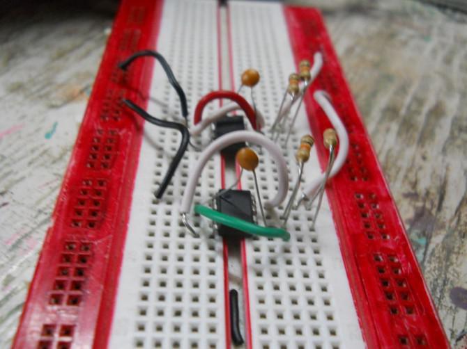 555-Timer-basierten Licht seeking Roboter