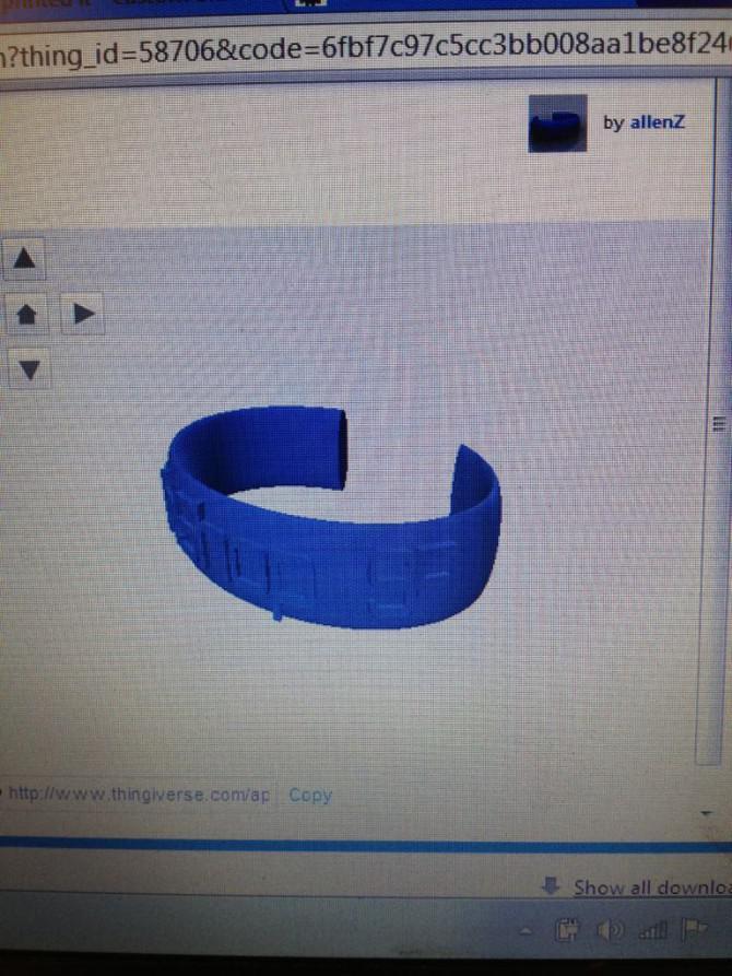 """3D Printed Armbänder """"Ich druckte dieses"""" mit erhaben"""