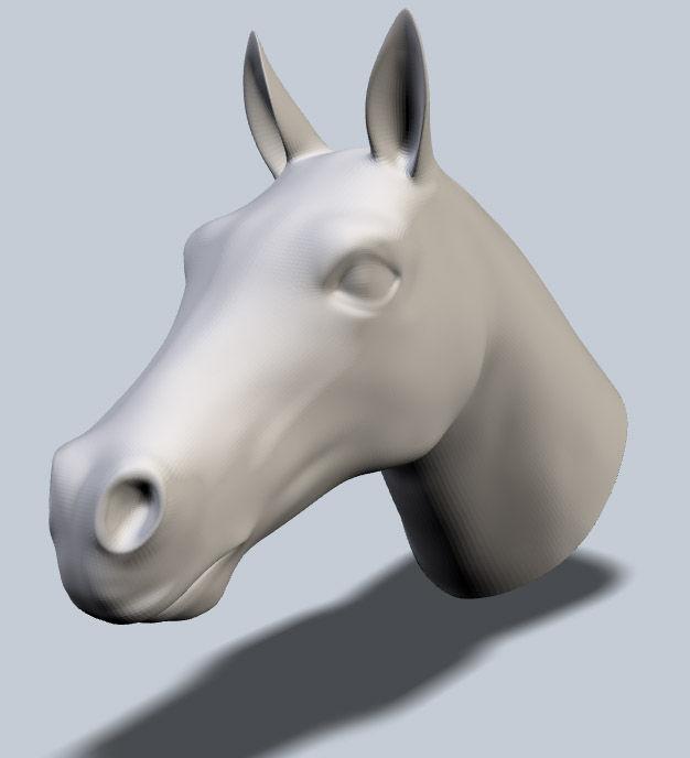 Casting mit 123D Make (Heißkleber Pferdekopf) - Ich habe es bei TechShop