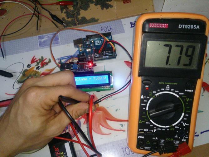 Arduino Batteriespannungsanzeige