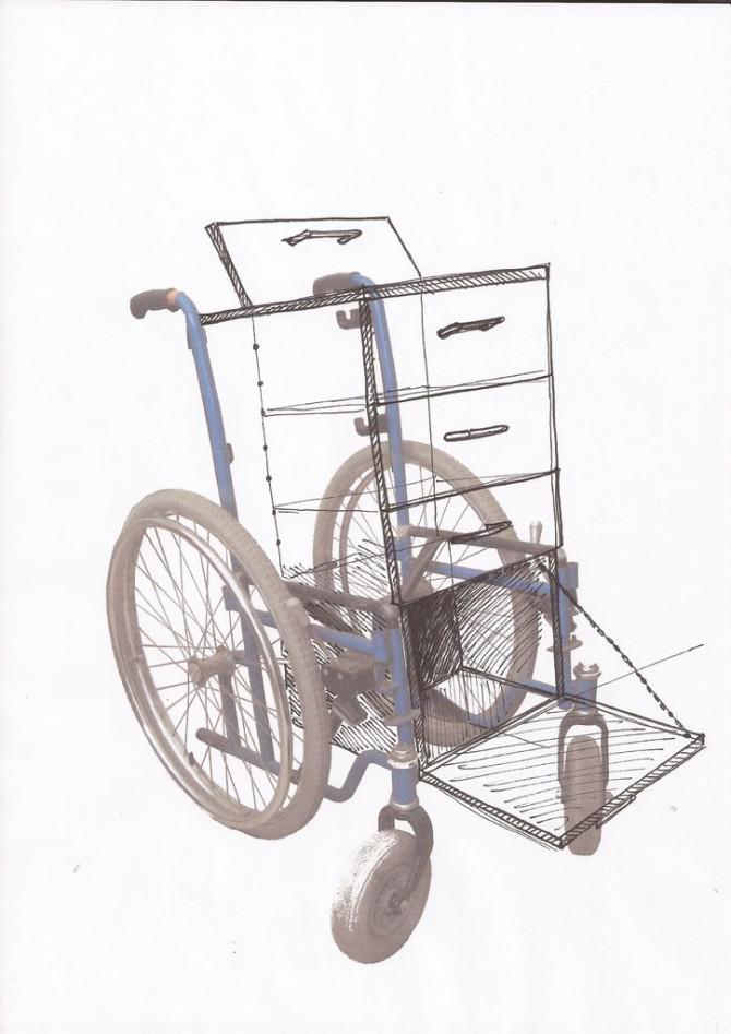 Rollstuhl-Workstation