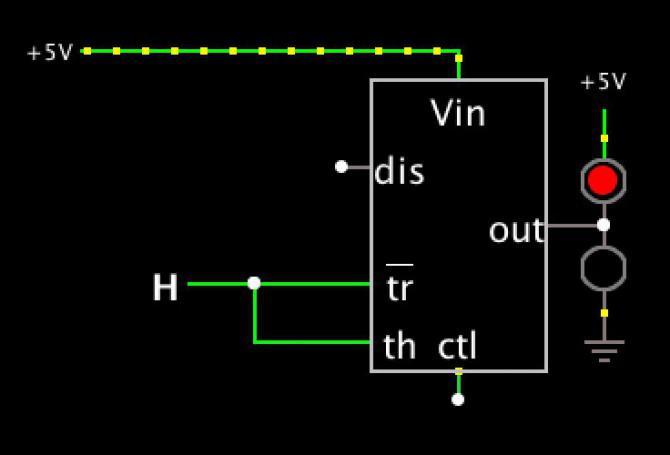 555-Timer Logic Probe