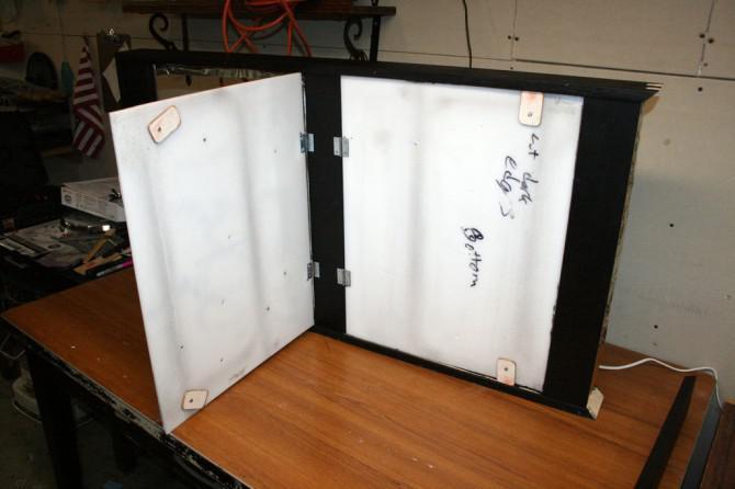 Portal-Testkammer Hinweisschild