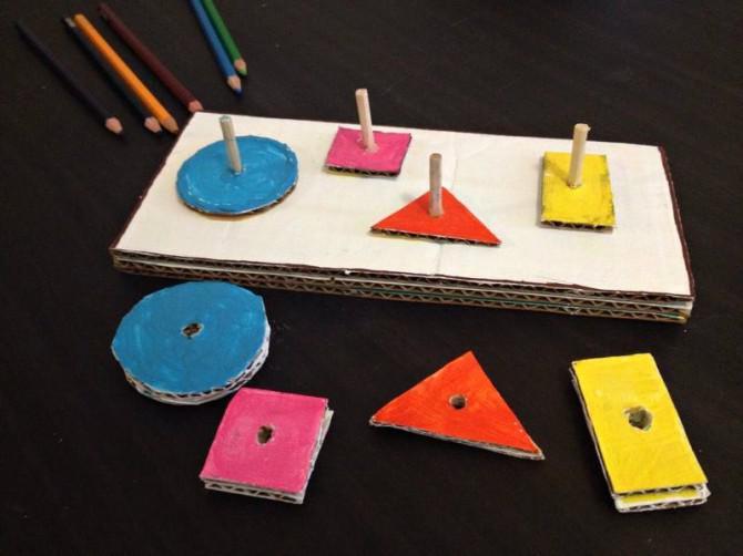 Karton Geometrische Form Puzzle