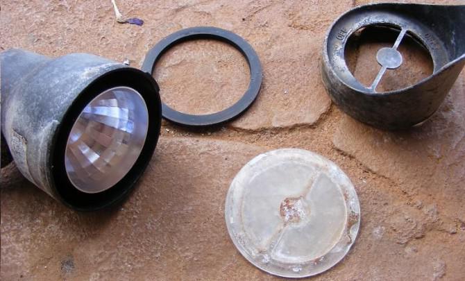 Erste instructable :) Off Grid beauty-Sicherheit-Notbeleuchtung-mit Junk & Kreativität