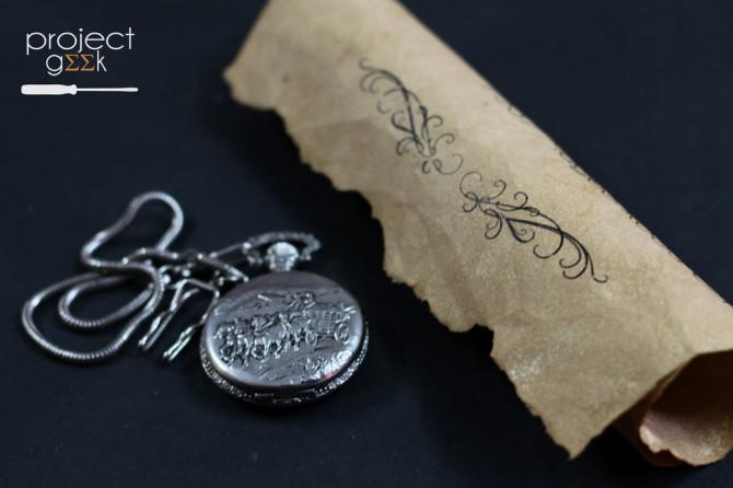 Vintage alten Papier Hochzeits-Einladung - Projekt Geek # 4