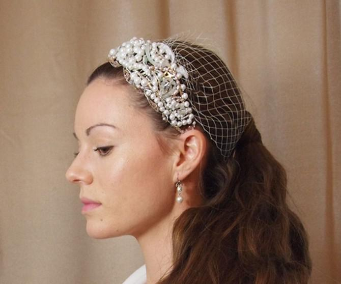 Einzigartige DIY Schöne Headpiece & Klein Veil