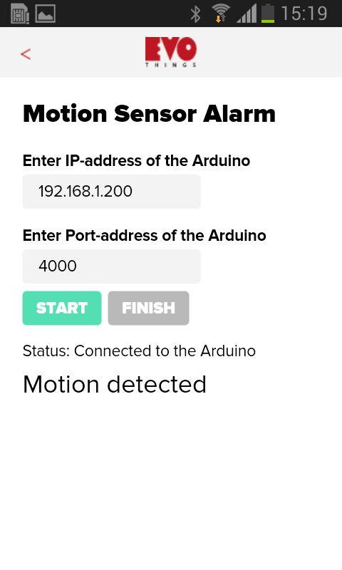 Verwenden von Smart Phone wie Motion Sensor Alarm