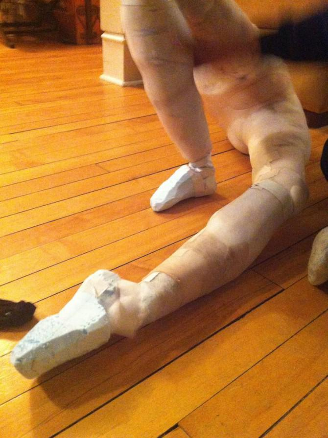 Freaky Schlangenmensch Kostüm mit Falsch Legs