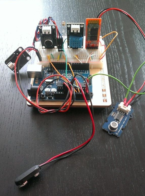 Indoor Environmental Quality Station + Bluetooth + Thingspeak