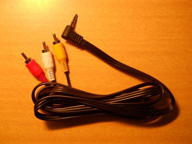Retro A / V, um Hilfsaudiokabel