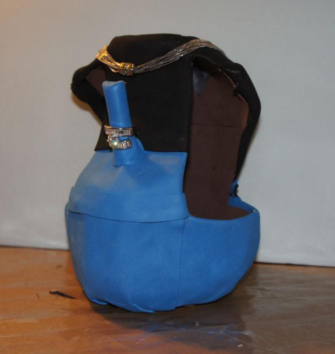 Milchkännchen & Necklace Ring-Ausstellungsstand / Schmuckständer
