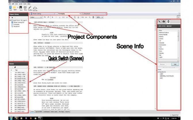 Verwendung Celtx 101 - Script Schreiben für Filme