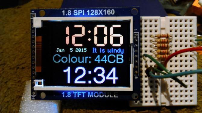 Arduino-TFT-Display und Schriftbibliothek