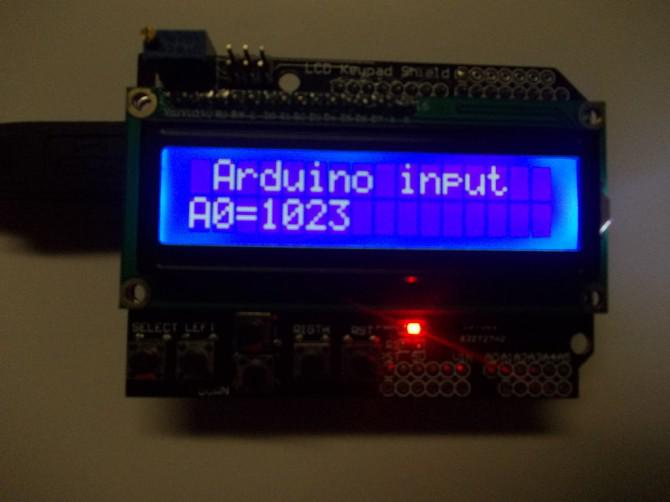 Arduino LCD Analog / Digital-Input Monitor.